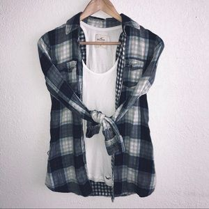 Abercrombie Large Plaid Top, Button Up Flannel Top